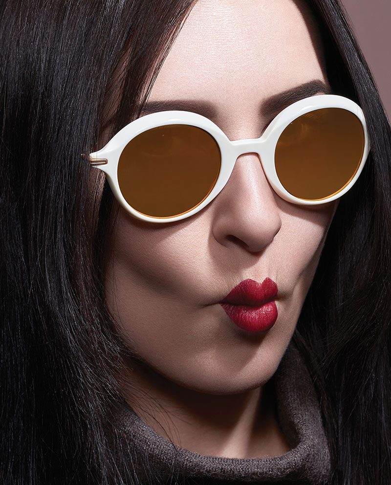 christian roth eyewear having a ball white